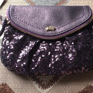 Juicy Couture Bags - Juicy couture wristlet cute sequins purple